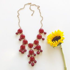 Burgundy Statement Necklace